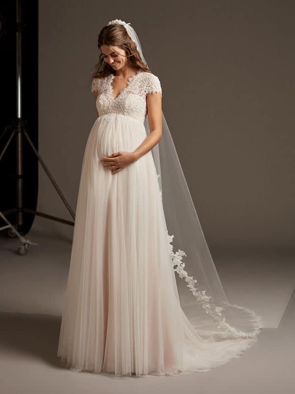 los angeles bc65e 6578b Umstandsbrautkleider, Hochzeitskleider für Schwangere ...